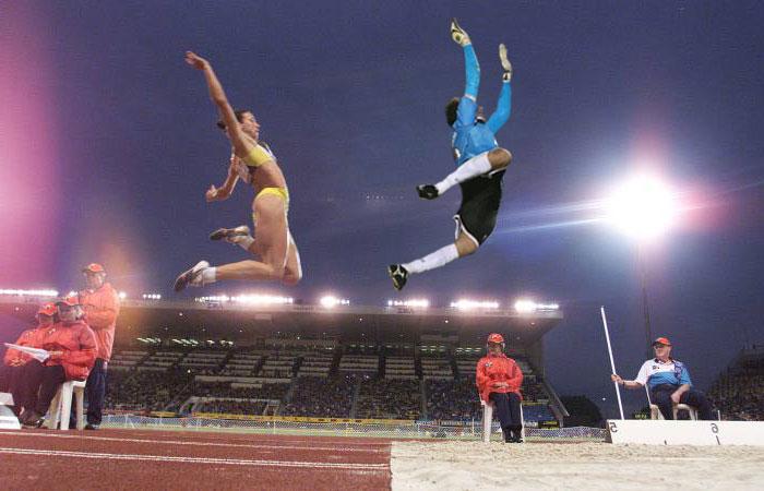 Rogério Ceni em salto em distância