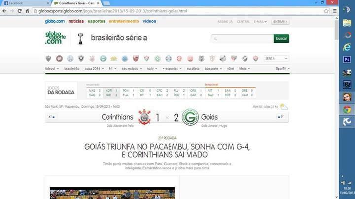 Corinthians sai viado de campo